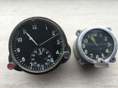 Russian CCCP MIG Fighter jet with mechanical tank clock 20th century