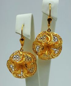 22 Ct Gold Flower Earrings, New(Unused) ***INVEST IN BULLION GOLD JEWELRY ***