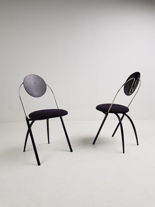 Designer unknown - set of 2 chairs