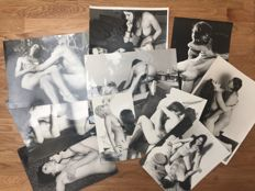 Photo;  Lot of 10 vintage Nude pictures - 1970s