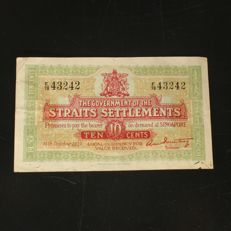 Straits Settlements - Government of the Straits Settlements - 10 Cents (4th Shoutoku) ND (1919) - Pick 8b