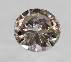 Diamond 0.43  Carat Natural light brown Color SI2 Clarity – DG2608 – NO RESERVE PRICE