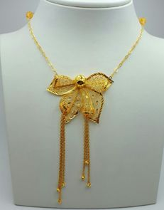 22 Ct Gold Fligree Necklace,  New(Unused)