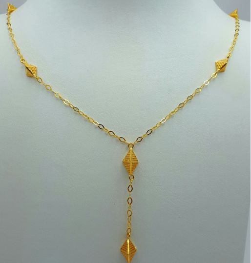 22 Ct Gold Necklace Cubes, New(Unused) ***INVEST IN BULLION GOLD JEWELRY ***