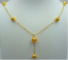 22 Ct Gold Necklace with balls, New(Unused) ***INVEST IN BULLION GOLD JEWELRY ***