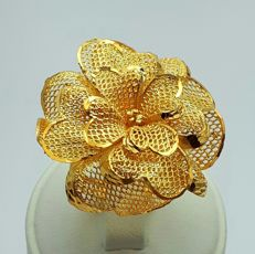22 Ct Gold Rose Ring, New(Unused)