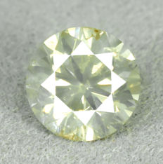 Diamond - 1.05 ct, Natural Fancy Greenish Yellow - NO RESERVE PRICE