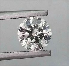Round Brilliant Cut  - 1.11 carat - D color - VS2 clarity- Comes With AIG Certificate + Laser Inscription On Girdle- 3 x EX.