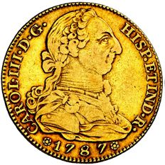 Spain - Charles III (1759 - 1788), doubloon of 4 gold escudos Madrid, 1787 DV