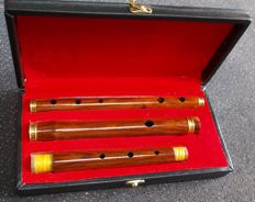 Large Irish Travers wooden flute in D in case