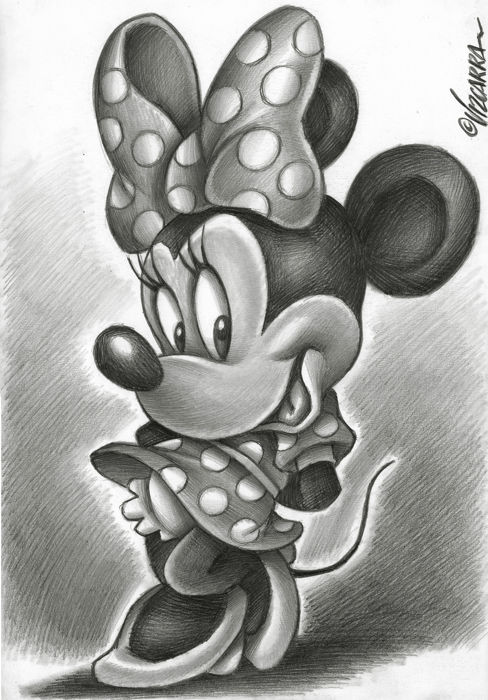 Minnie Mouse by Joan Vizcarra - Original Drawing