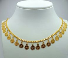 22 Ct Gold Necklace With Charms, New(Unused)