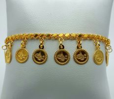 22 Ct Gold Bracelet with Charms ,New( Unused)