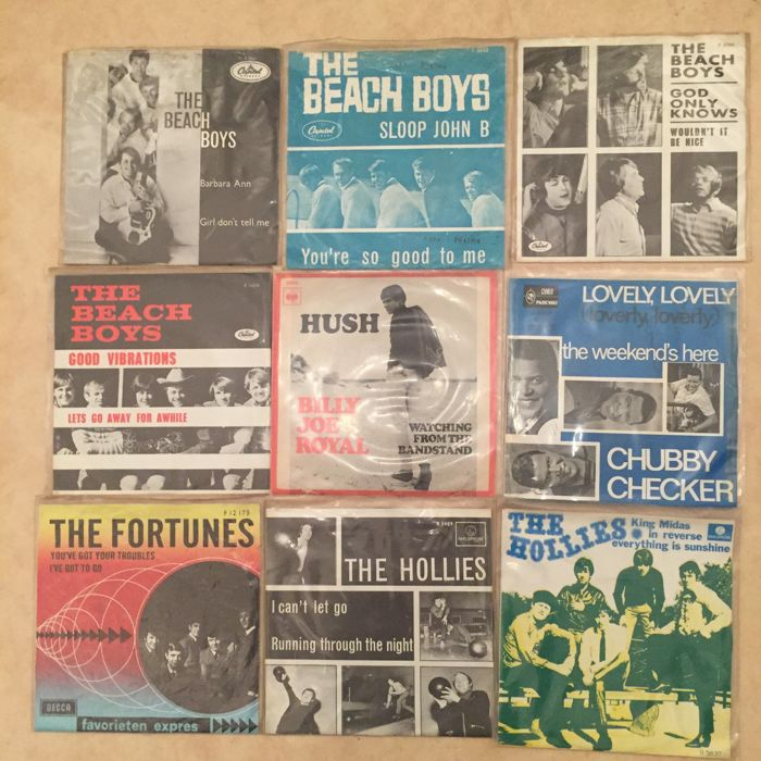 Lot of  18 original 45 RPM singles from the '60s - Beach Boys, Hollies, Ivy League, Dusty Springfield and more - (1964/1967)