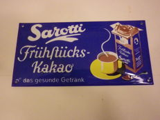 Sarotti Kakao cocoa enamel sign / advertising sign,  great colour advertising enamel / porcelain sign, bright colours