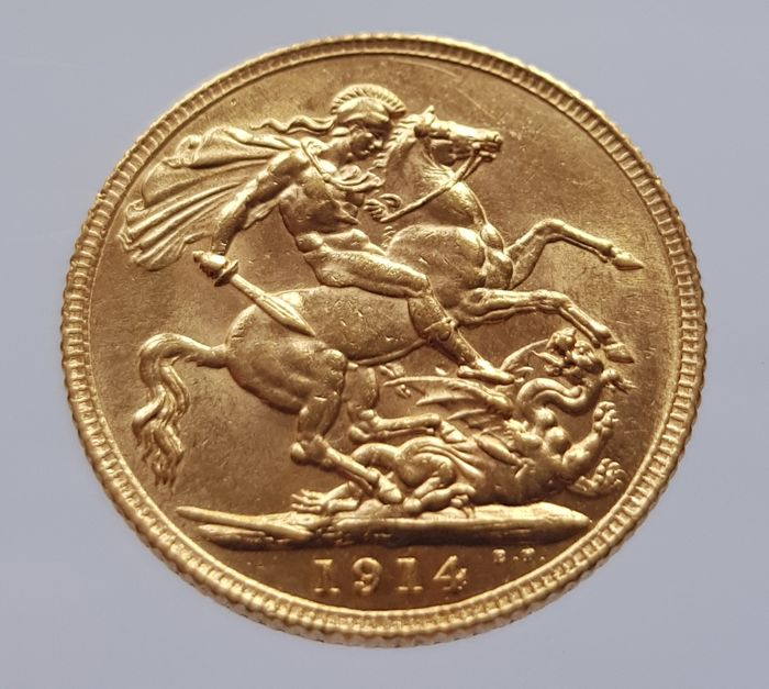 Great Britain – sovereign 1914, George V – gold.