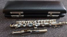 Silver-plated Piccolo Flute, complete with case and polishing cloth