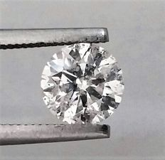 Round Brilliant Cut  - 1.14 carat - D color - SI1 clarity- Comes With AIG Certificate + Laser Inscription On Girdle - 3 x EX.