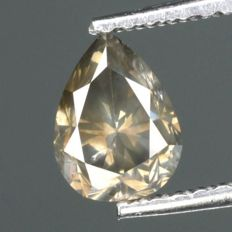 0,76 ct Pear cut Diamond natural UNTREATED FANCY GRAY I1