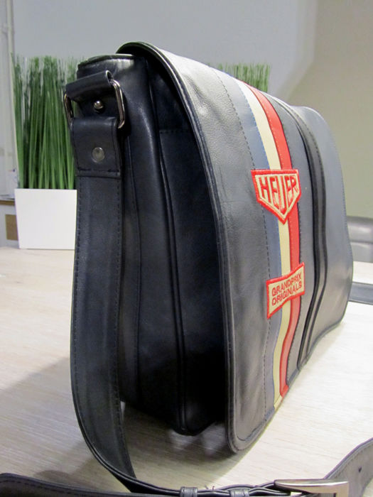 tag heuer grand prix originals leather messenger bag. Black Bedroom Furniture Sets. Home Design Ideas