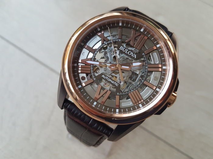 08ee795e2 Bulova - Skeleton Classic Automatic - 98A165 Rose Gold Plated - Men -  2011-present