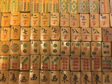 Antique Chinese mahjong game - China - early 20th century