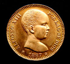 Spain - Alfonso XIII - 20 Pesetas 1887*19-62 - Official restrike - Gold - Scarce