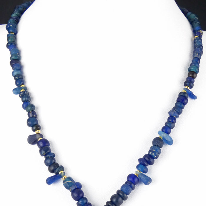 sommerso murano uk leaf glass gold beaded necklace bead blue gradenigo product a classic handcrafted jewelry with unique and