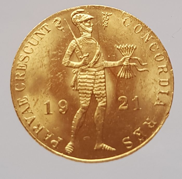 The Netherlands - Ducat 1921 - Wilhelmina - gold