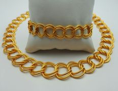 22 Ct Gold Circle Necklace & Bracelet Set, New(Unused) ***INVEST IN BULLION GOLD JEWELRY ***