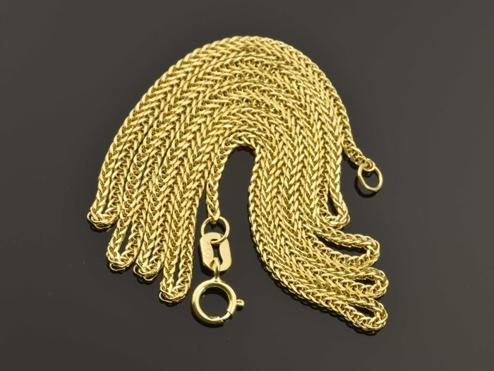 18k Gold Necklace. Chain - 50 cm. No reserve price.