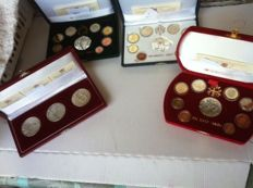 Vatican - Divisional series, Proof, 2004, 2005 and 2007 + various medals and coins