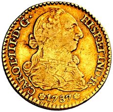 Spain - Charles III (1759-1788) - 1 gold escudo Seville 1787 C·M