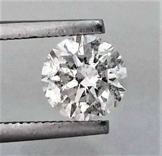 Round Brilliant Cut  - 1.13 carat  - E color  - SI1 clarity  - 3 x EX - Natural Diamond  - With AIG Big Certificate + Laser Inscription On Girdle