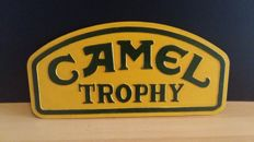 Cast iron Camel Trophy advertising sign - 20th century