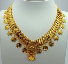 22 Ct Gold Necklace With Coins , New(Unused) ***INVEST IN BULLION GOLD JEWELRY ***