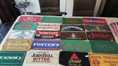 Beautiful collection of bar/beer towels ... various brands.