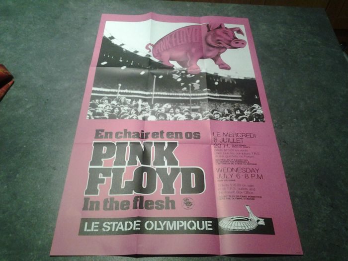 Pink Floyd 2 post show concert/Pink floyd 2 affiches posters concert