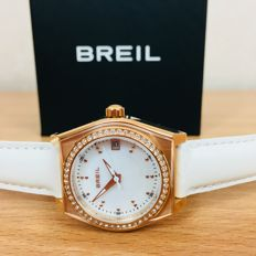 BREIL– Luxurious Gold Plated Watch With Swarovski Diamonds ***No Reserve***