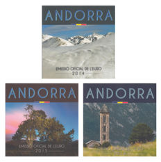 Andorra – Year collections 2014, 2015, 2016 (3 different ones)