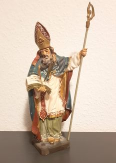 Wooden figure of St Willibald with a staff - Germany - Bavaria