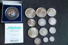 United States and Canada - 13 silver coins, all different