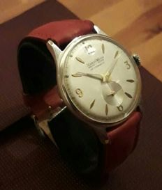 Xaros men's watch made in Italy by Domenico Morezzi OISA Milan - 40s/50s - hand-wound Ancre 17 jewels, antimagnetic, 37 mm