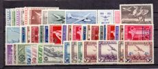 Belgium 1930/1987 - collection of airmail stamps - OBP PA 1/35, OBP 810A.