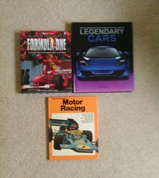 Legendary cars Larry Edsall . Concise encyclopedia of formula one . Motor racing  lot of 3 books
