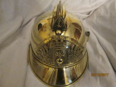 Superb brass firefighter helmet 1895.