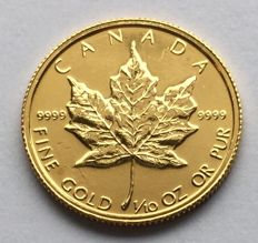 Canada - 5 Dollars 1986 'Maple Leaf' - 1/10 oz gold