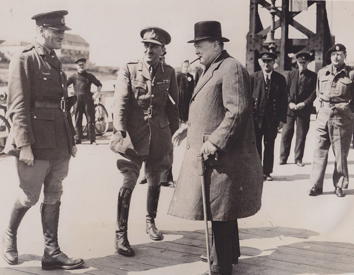 Unknown/ACME and Fred Ramage/Keystone -  Winston Churchill and Lt. Gen. Brooke, England 1940 / Winston Churchill and Gen. Simpson, Germany 1945