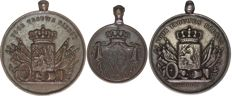 Netherlands - Medal for long, honest and loyal services, ca 1860 (3 different including 1 silver)