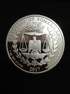 Somaliland - 1000 shillings 2017 'Year of the Rooster' - 1 oz silver